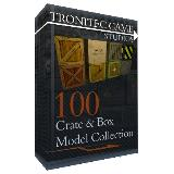 3D Model - 100 Crate Box Model Collection