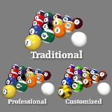 3D Model - Billiard Balls Collection