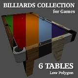 3D Model - Billiards Table Collection