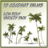 3D Model - 10 Coconut Palm Trees Collection