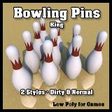 3D Model - Bowling Pins King