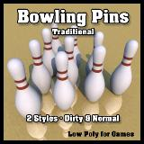 3D Model - Bowling Pins Traditional