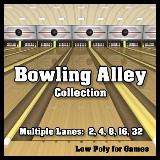 3D Model - Bowling Alley Collection