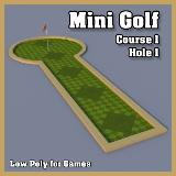 3D Model - Mini Golf Course 1 Hole 1