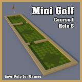 3D Model - Mini Golf Course 1 Hole 6