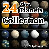 3D Model - 24 Alien Planets Collection
