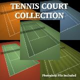 3D Model - Tennis Court Collection