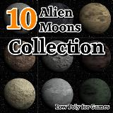 3D Model - 10 Alien Moons Collection
