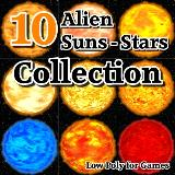 3D Model - 10 Alien Suns Stars Collection