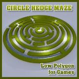 3D Model - Circle Hedge Maze