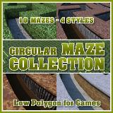 3D Model - Circular Maze Collection