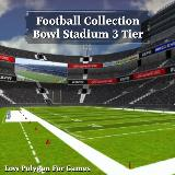 3D Model - Football Collection Bowl Stadium 3 Tier