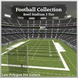 3D Model - Football Collection Bowl Stadium 3 Tier V2