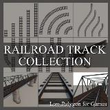 3D Model - Railroad Track Collection