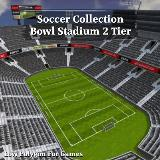 3D Model - Soccer Collection Bowl Stadium 2 Tier