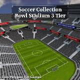 3D Model - Soccer Collection Bowl Stadium 3 Tier