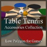 3D Model - Table Tennis Accessories Collection
