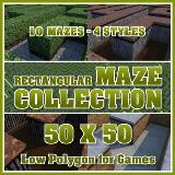 3D Model - 50x50 Rectangular Maze Collection