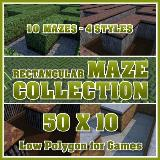 3D Model - 50x10 Rectangular Maze Collection