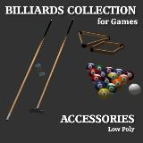 3D Model - Billiards Accessories Collection