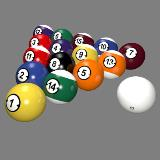 3D Model - Billiard Balls Professional