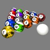 3D Model - Billiard Balls Customized