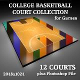 3D Model - College Basketball Court