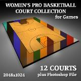 3D Model - Women's Pro Basketball Court